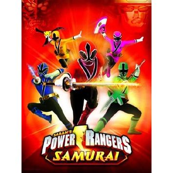 Power Rangers Samurai Movie poster Metal Sign Wall Art 8in x 12in