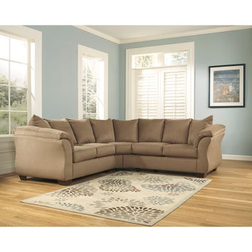 Darcy Sectional in Mocha Fabric