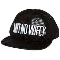 The Ain't No Wifey Spacer Mesh Cap in Black