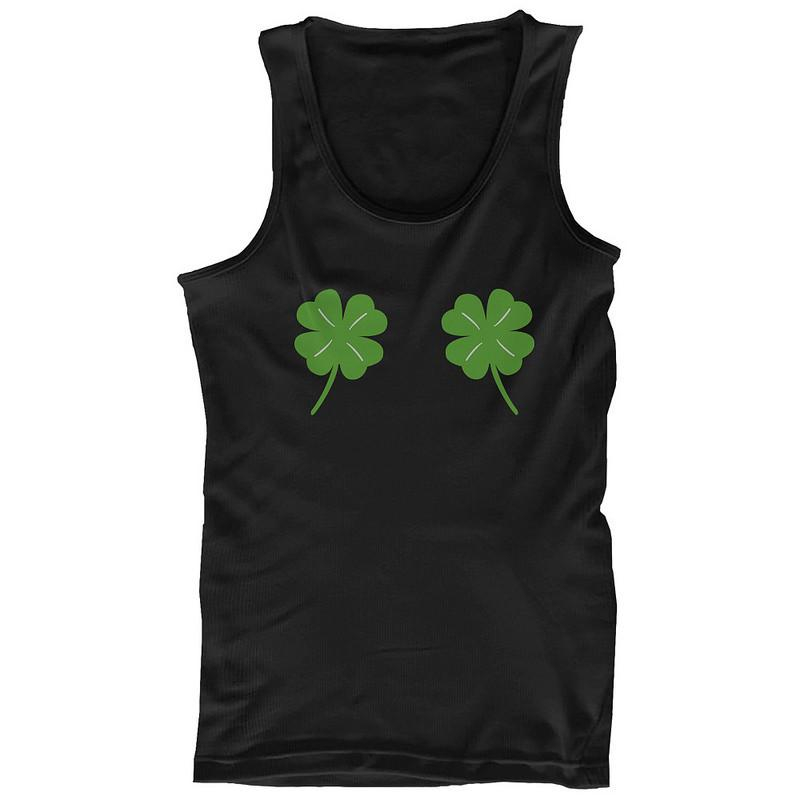 eacd29b6 Four Leaf Clovers Women's Tank Top St Patricks Day Tanks Cute Tanktop
