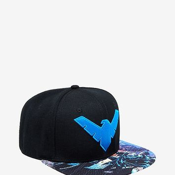 DC Comics Nightwing Sublimated Snapback Hat