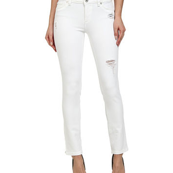 DL1961 Angel Skinny in Swift White Distressed