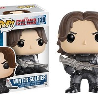 Winter Soldier Captain America Civil War Marvel Funko Pop! #129