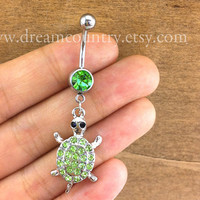 turtle Belly Button Rings, turtle belly button jewelry, turtle Navel Jewelry, turtle friendship belly button jewelry
