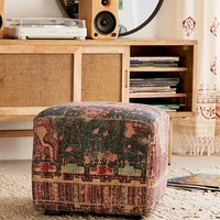 Zelda Chenille Ottoman | Urban Outfitters