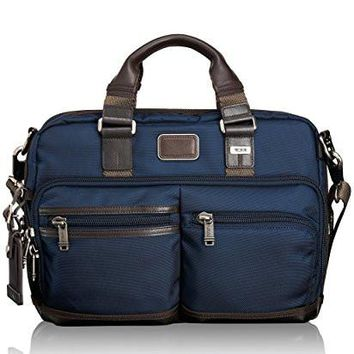 Tumi Alpha Bravo Andersen Slim Commuter Brief, Navy, One Size