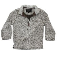 CHILD'S Frosty Tip 1/4 Zip Pullover in Brown by True Grit - FINAL SALE