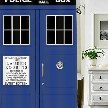 tardis dr who special custom shower curtains that will make your bathroom adorable