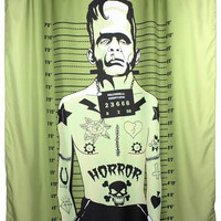 Tattooed Monster Shower Curtain by Too Fast Clothing - SALE