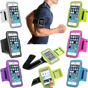 Rosany Sport Arm Band Cover For iPhone 6 6S 7 Gym Waterproof For Samsung Galaxy S5 S6 Edge S7 XiaoMi Mi5 PU Leather Phone Cases