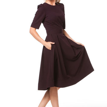 Classic Black Maxi Dress Formal,Evening Dress Skirt with Pleats.