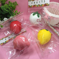 1piece NEW package 7cm Cute cartoon fruit strawberry slow rising squishy toys cellphone charm accessories squishies charm Retail