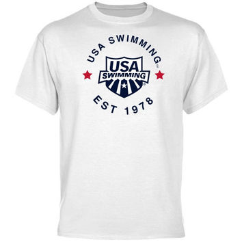 USA Swimming Full Circle T-Shirt - White