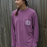 Berry Long Sleeve Pocket