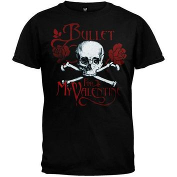 PEAPGQ9 Bullet For My Valentine - Skull & Roses Youth T-Shirt