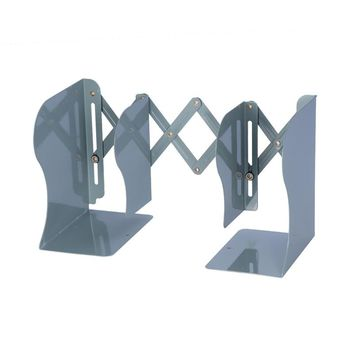 Adjustable Metal Bookend Heavy Duty and Decorative Modern Design with Non-Skid Base
