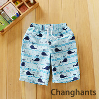 new boys swimwear color white fish pattern fit 6-7Y/120-128cm boys swimming trunks kid/children sw0647
