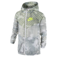 Nike Flight Weight Camo Windrunner Boys' Jacket Size Large (Grey)