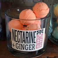 BeCheered - Nectarine & Ginger Bath Bomb - 6 Pack of Happiness bath bombs 2.5 oz each