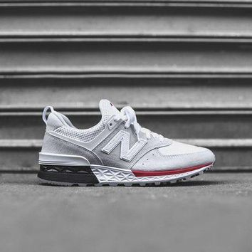 DCCK1IN new balance 574 sport white red