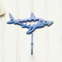 Cast Iron Shark Wall Hook - Choose Your Color - Colorful Cast and Crew