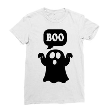 Ghost Boo Ladies Fitted T-Shirt