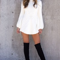 Tilly White Knit Dress