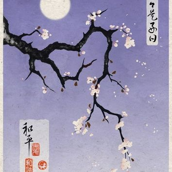 Asian Art Print Plum Blossoms