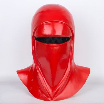 Star Wars Force Episode 1 2 3 4 5 Movie  Emperor's Royal Guard Soldiers Cosplay Masks Latex Full Head Red Helmets Props Party Halloween Fancy Dress Ball AT_72_6