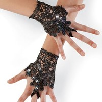 Sequin Lace Gloves - Balera