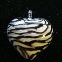 Zebra Glass Heart