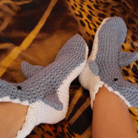 Socks Shark    Handmade  TO ORDER fo  Adult Sizes