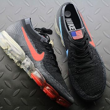 Sale Nike Air VaporMax Vapor Max 2018 Flyknit Men American Flag Sport Running Shoes 849558-018