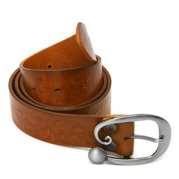 ESBONQK 2017 Preety  Vintage Women Leather Wide Belt Casual Pin Buckle Embossed Waistband Waist Strap MAY11_35