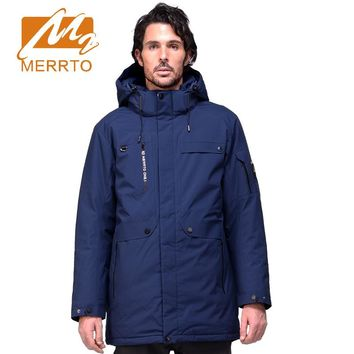 Merrto Winter  Waterproof  Windproof Sports Jacket for Men Down Coat Warm men Down Jacket Quilted Thermal sports Coat for men