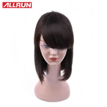 Brazilian Straight Hair Wig with Bob Front