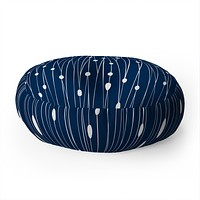 Heather Dutton Navy Entangled Floor Pillow Round