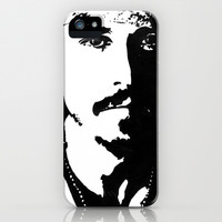 Johnny Depp iPhone & iPod Case by Jeanique van den Berg