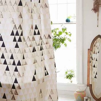 Pattern State For DENY Triangle Standard Shower Curtain- Black & White One