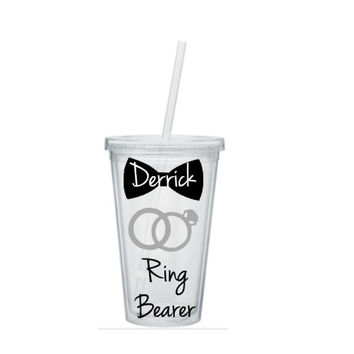 Ring Bearer Tumbler, Ring Bearer Cup, Ring Bearer Gift, Personalized Ring Bearer Tumbler, Ring Bearer Tumblers, Wedding Party Gift