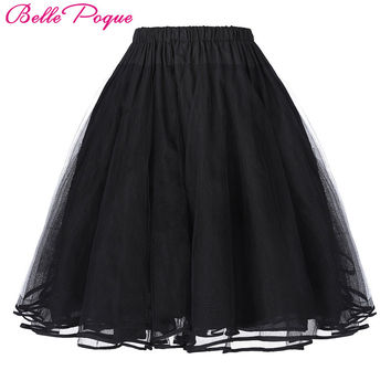Belle Poque Women Tutu Skirt 2017 Mini Retro Skirt Tulle Netting Crinoline Rockabilly Petticoat Underskirt Slip Vintage Skirts