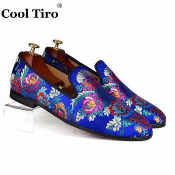 Cool Tiro Silk Jacquard Loafers Men Slippers Moccasins
