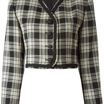Yves Saint Laurent Vintage checked cropped jacket