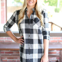 See You There Tunic - Ivory and Black