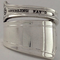 Size 10.5 Vintage Sterling Silver Spoon Ring