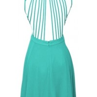 Straps Back Chiffon Dress