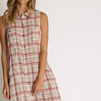 Color Me Plaid Button Up Dress | Ruche