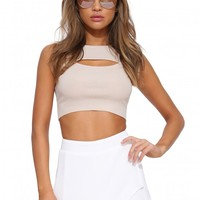 Well Rounded Cut Out Crop Top