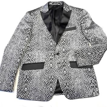 Angelino Men's 'Silver Python' Sports Coat Blazer