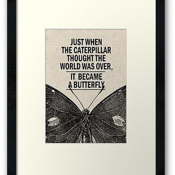 'Printable, Quote art, Home art print, Wall art, Literary print' Framed Print by Creative-World